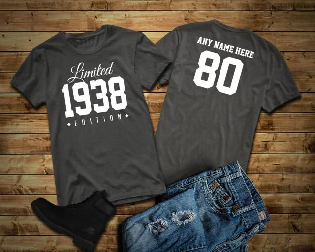 1938 Limited Edition 80th Birthday Party Shirt 80 Years Old