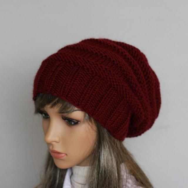 bbb8dce558b Autumn Accessories-Slouchy Beanie Women Hat Slouchy knit hat - Oversized Hat  - Chunky Knit