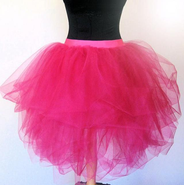 c5a4776a2a Luxurious Hot Pink Adult Tulle Tutu SKIRT 80&;s Prom Valentines Day  Dance Bridesmaid
