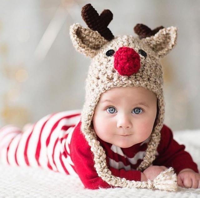4a39a69db Oatmeal Reindeer Baby Hat - Reindeer Hat - Baby Reindeer Hat - Oatmeal Reindeer  Hat -