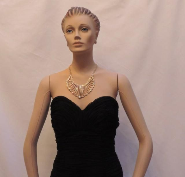 b45997567bb72 Victor Costa Neiman Marcus Dress Vintage LBD Black Strapless Sweetheart  Wiggle Bombshell Ruched Fitted Bustier Evening