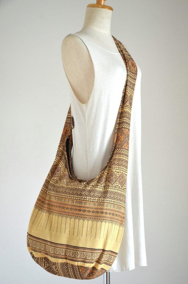 e0d120ce2eb0 Ivory Hobo Bag Bohemian Ethnic Bag Cotton Shoulder Bag Crossbody Bag Boho  Bag Sling Bag Hippie