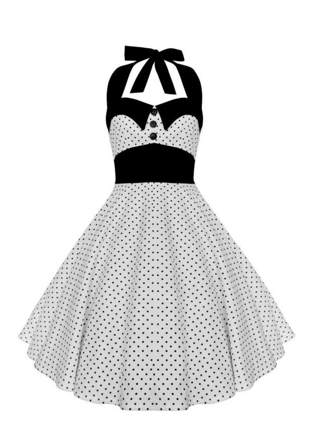 c739edf9e510e Rockabilly Dress Pin Up Dress White Polka Dot Dress Plus Size Dress 50s  Retro Dress Gothic