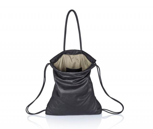 015d89c4849cd Handbag black leather backpack multi way leather sack bag SALE leather back  bag - leather tote