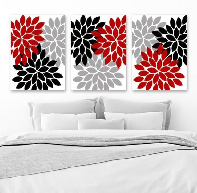 2020 Best Red Bathroom Wall Art Images