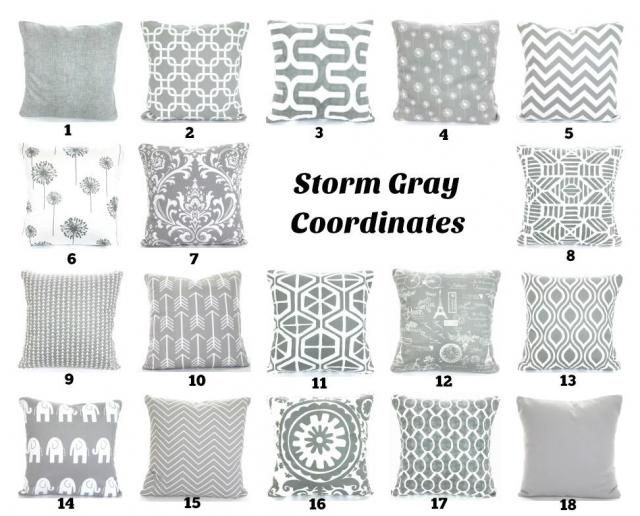 Gray Throw Pillow Covers Grey White Cushions Decorative Pillows Chevron Nursery Decor