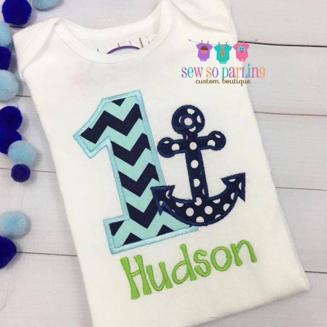 caf092598 Baby Boy Nautical Birthday Outfit - 1st Birthday Anchor Birthday Outfit -  1st Birthday Outfit -