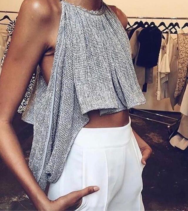 Pretty silver top
