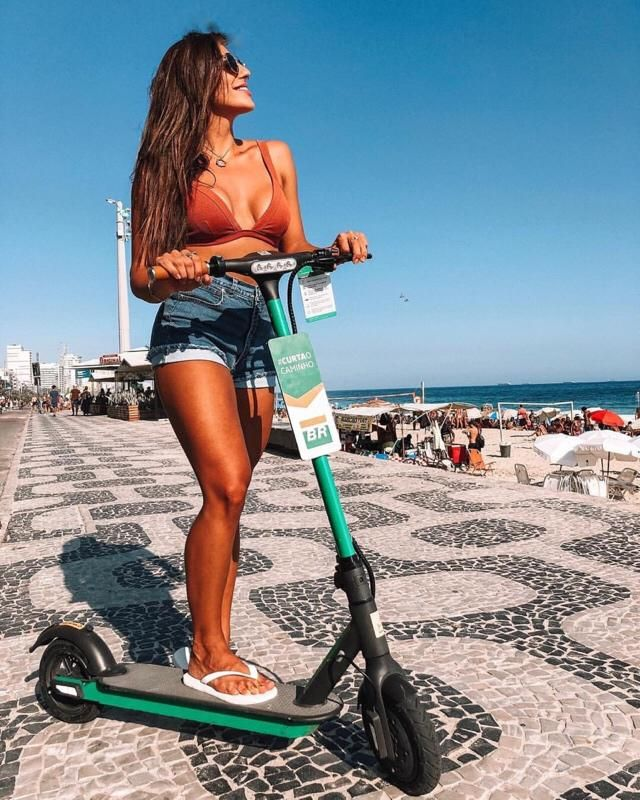I love riding on scooters it's easy and healthy for sure
