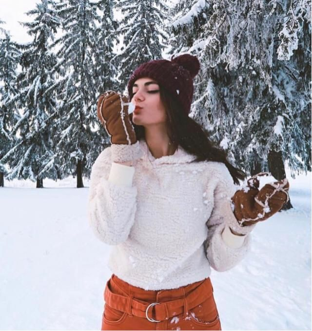 Loving snow and the Christmas gift that's about to come