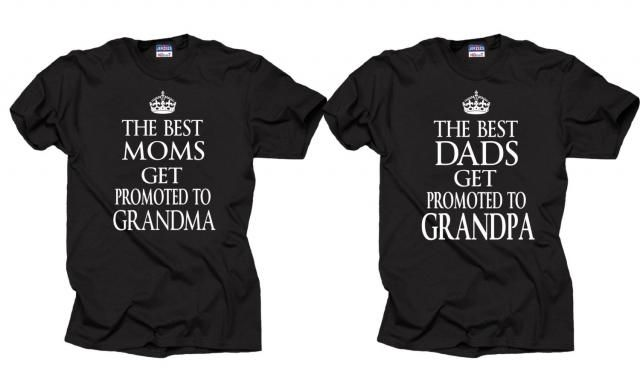 Gift For Parents Couple T Shirts Baby Announcement Birthday Tee Shirt