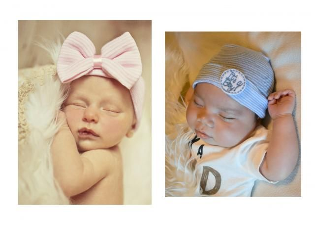 Twin Newborn Hospital Hats Boy Girl Twin Hospital Hats Newborn baby hats  for Boy and Girl bcb24bbb1863