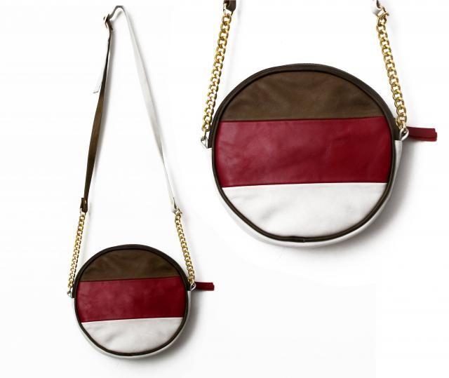 6332f2aef970 Pastel leather round bag circular leather purse women small crossbody bag - handmade  circle bag -