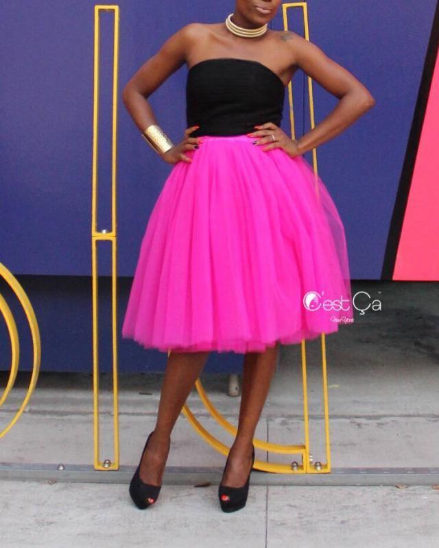 a80e1007d1 Clarisa - Fuchsia Tulle Skirt, Hot Pink Tulle Skirt, Midi Tulle Skirt, Tutu
