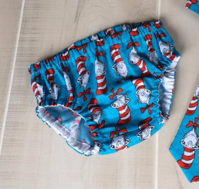 Dr Seuss Baby Boy Diaper Cover Cat In The Hat 1st Birthday First