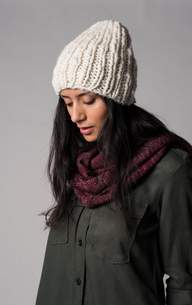 48d276bc3d66fe Chunky knit hat, White beanie hat, Undyed organic merino wool