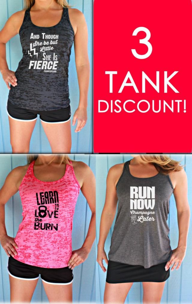 aaabcfe955ccf3 Three Tank Discount. Burnout or Flowy Workout Tank Tops. Workout Gym Tank.  Running