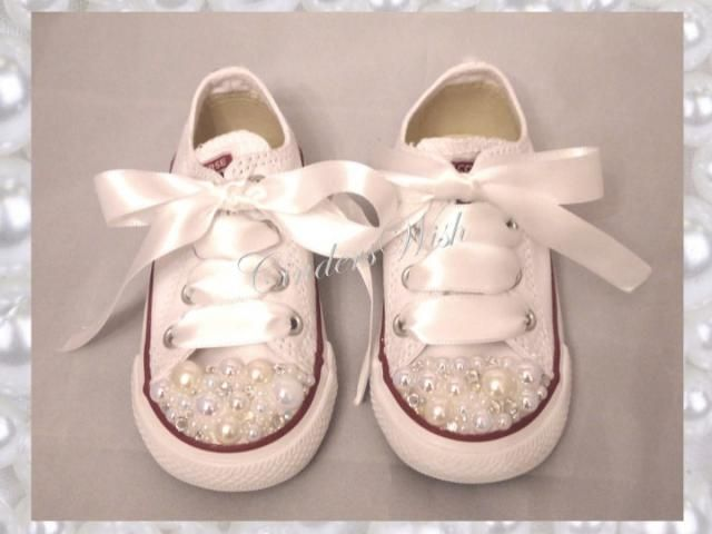 Childrens Pearl Converse   kids converse   white converse  vintage   unique  sneakers   pearl 284221c892