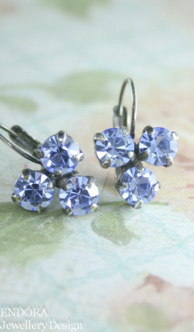 38058483b blue crystal earrings,crystal leverback earrings,swarovski earrings,blue  sapphire earrings,blue