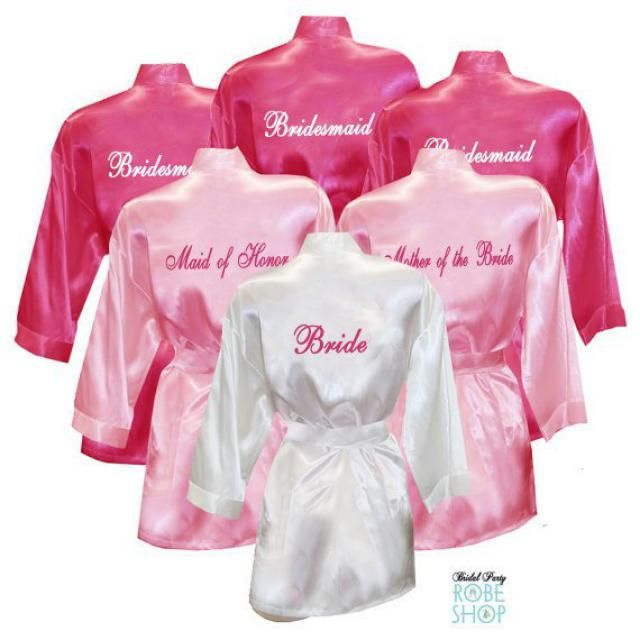 Set of 11 Personalized Satin Robes with Title on Back 7ee8ee68c