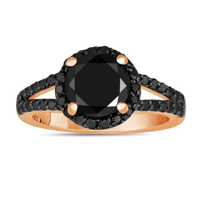 Diamond Princess Diamond Engagement Ring 2.44 Ct Diamond Black Silver Ring Handmade !! Jewelry & Watches