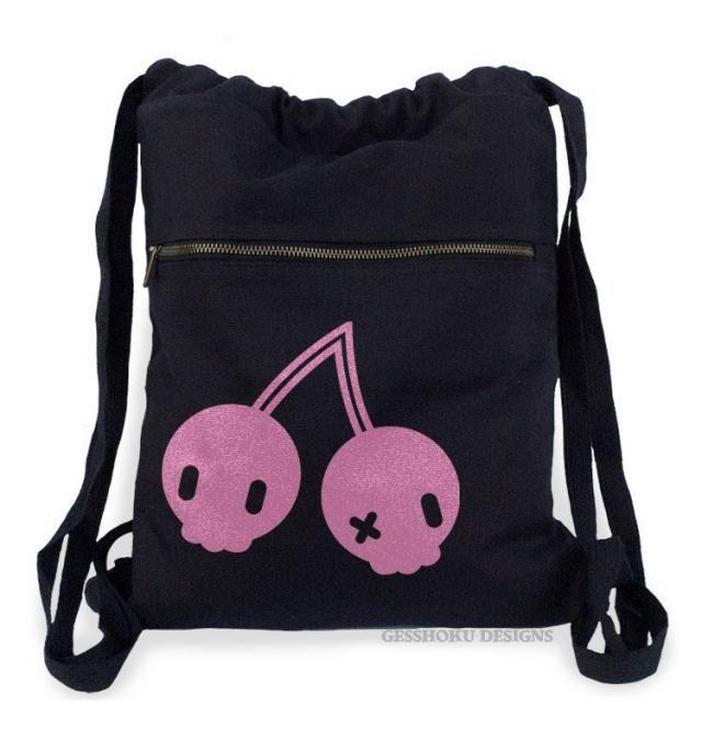 Yami Kawaii Cherry Backpack Pastel goth kawaii cherries bag Creepy cute nu  goth school bag 029d007ddd7b1