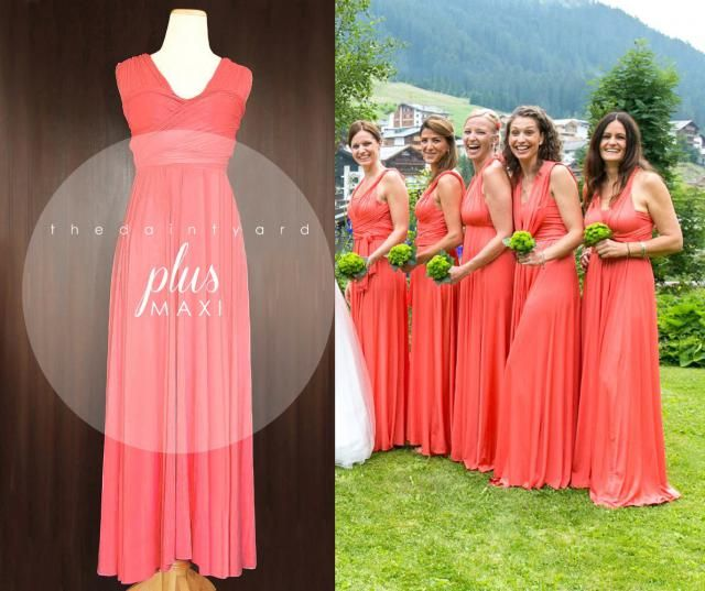 2019 Best Coral Infinity Dress Images And Outfits | Z-Me ZAFUL