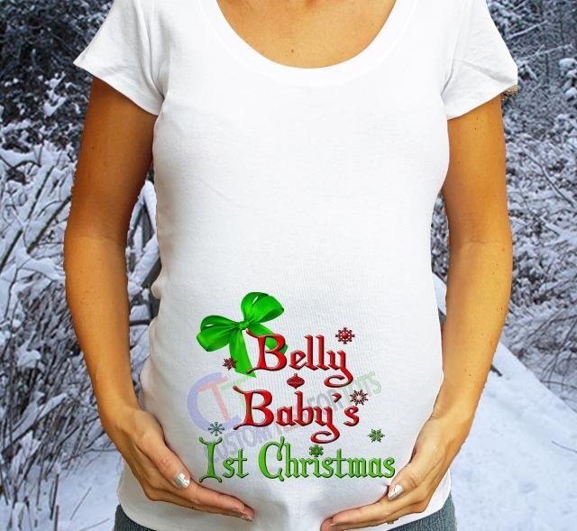 f7053b9def USA Cutoff Dec 19th Belly Baby amp  s 1st Christmas Maternity Shirt  Christmas Maternity shirt