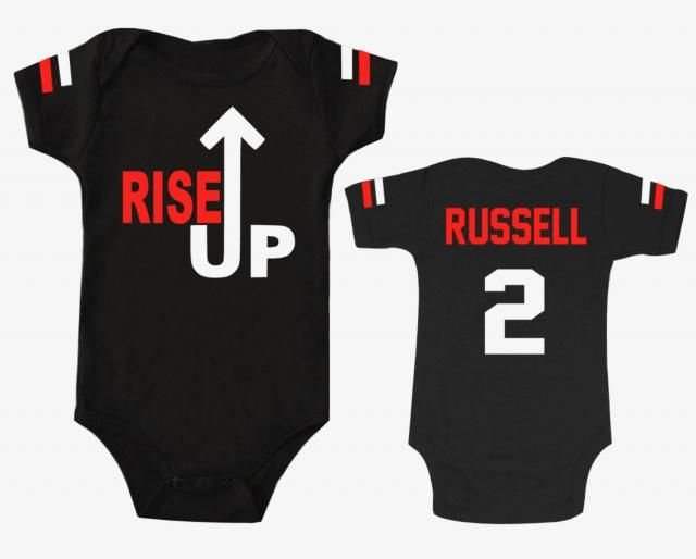 54923994064e Baby Football Bodysuit Game Day Rise Up Superbowl Shirt Personalized With  Name and Number T-