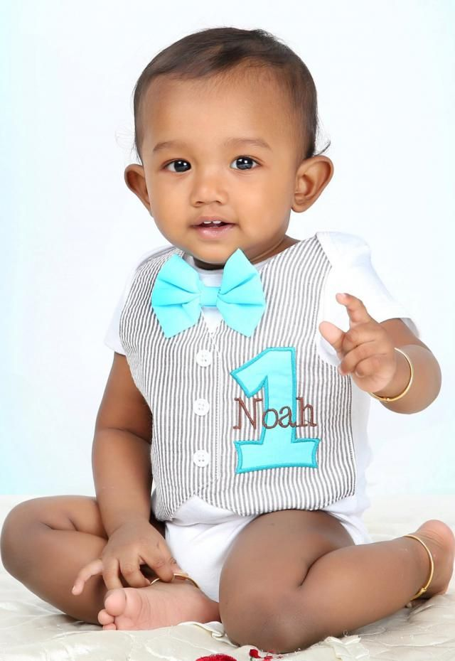 a14c1c913d Personalized Baby amp  s First Birthday Tuxedo Bodysuit Vest with Matching Bow  Tie