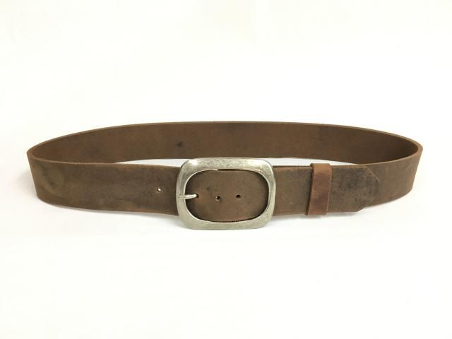 52fd9552a Classic Wide Light Brown Leather Belt. For Men  amp  Women. Available with  Silver