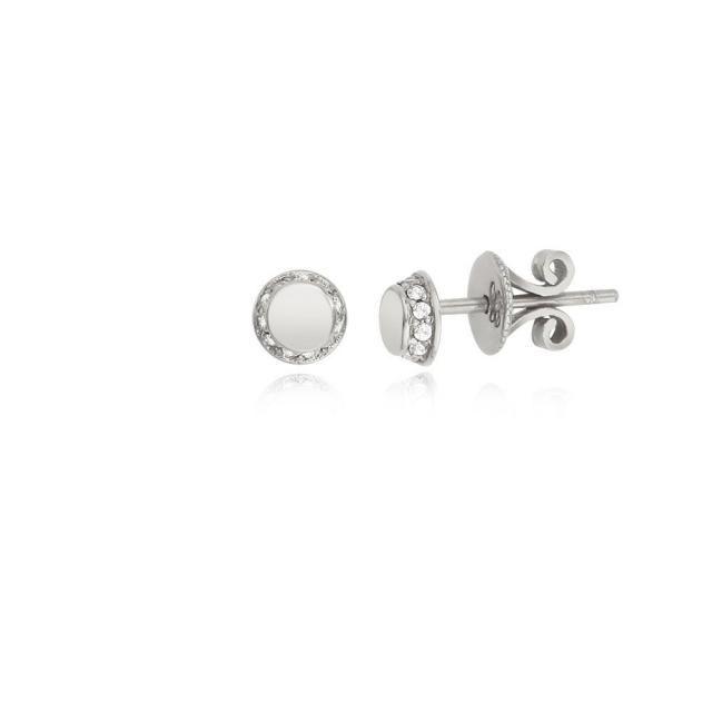 543ba90f4 Silver Dot Stud Earrings, Tiny Dot Studs, Circle Studs, Round Stud,  Minimalist