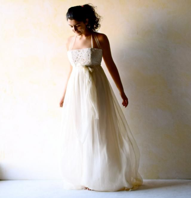 71b44add9d16 Wedding Dress, Empire wedding dress, low back wedding dress, boho wedding  dress,