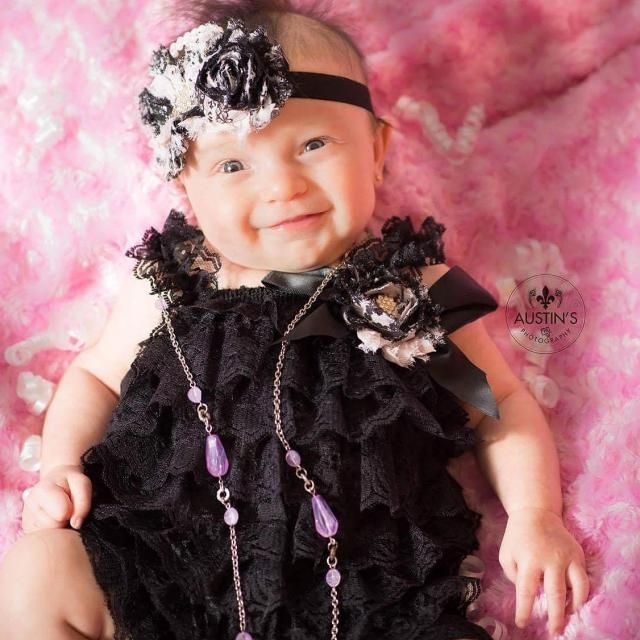 52b5c022e Black Lace Romper Cake Smash Set Vintage Baby Outfit 6 Month Boutique  Outfit Half Birthday Outfit
