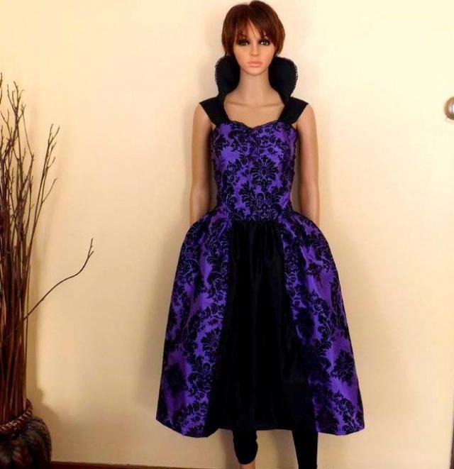 bb0c2afdb23 Regina Evil Queen inspired damask dress Cosplay Costume Halloween womens  AND plus size custom handmade