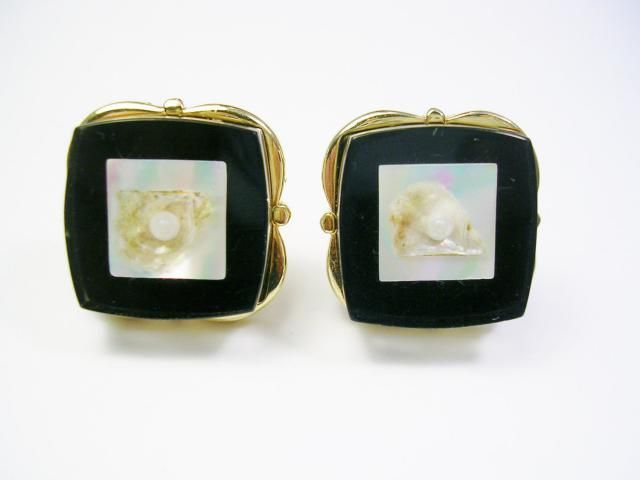 2db77b07343d Vintage Cufflinks, Mother of Pearl Shell, Lucite, Formal Wear, Swank Cuff  links