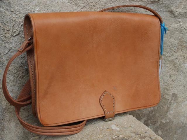 bec7afd05 Tan Leather Messenger Men&;s Genuine Leather messenger,17 &;&