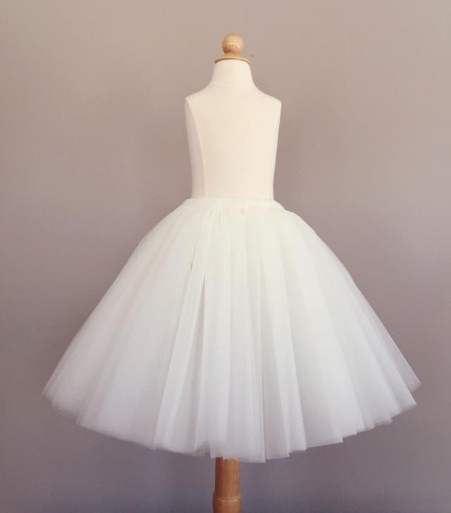 d51492df9c Flower girl tutu, long tulle skirt, ivory tutu, long tulle skirt ANY COLOR