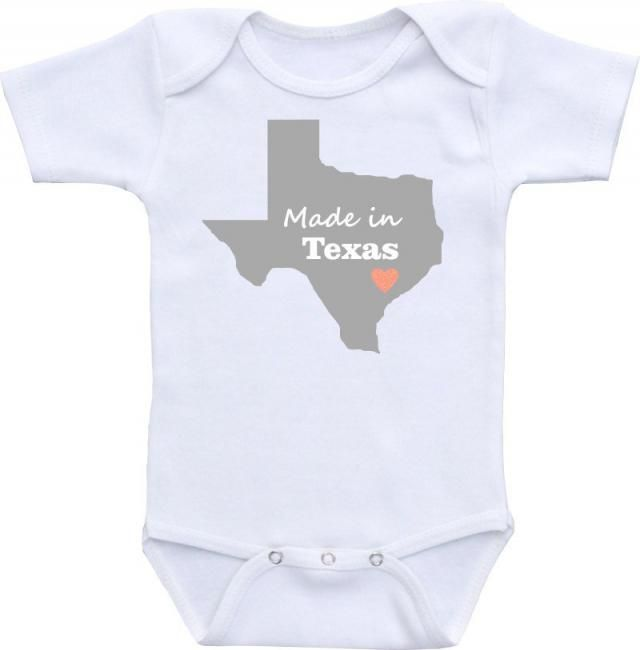 a1dbd2d8a Made in Texas or any state Onesies® brand Gerber Onesie Bodysuit Cute Baby  Shower Gift