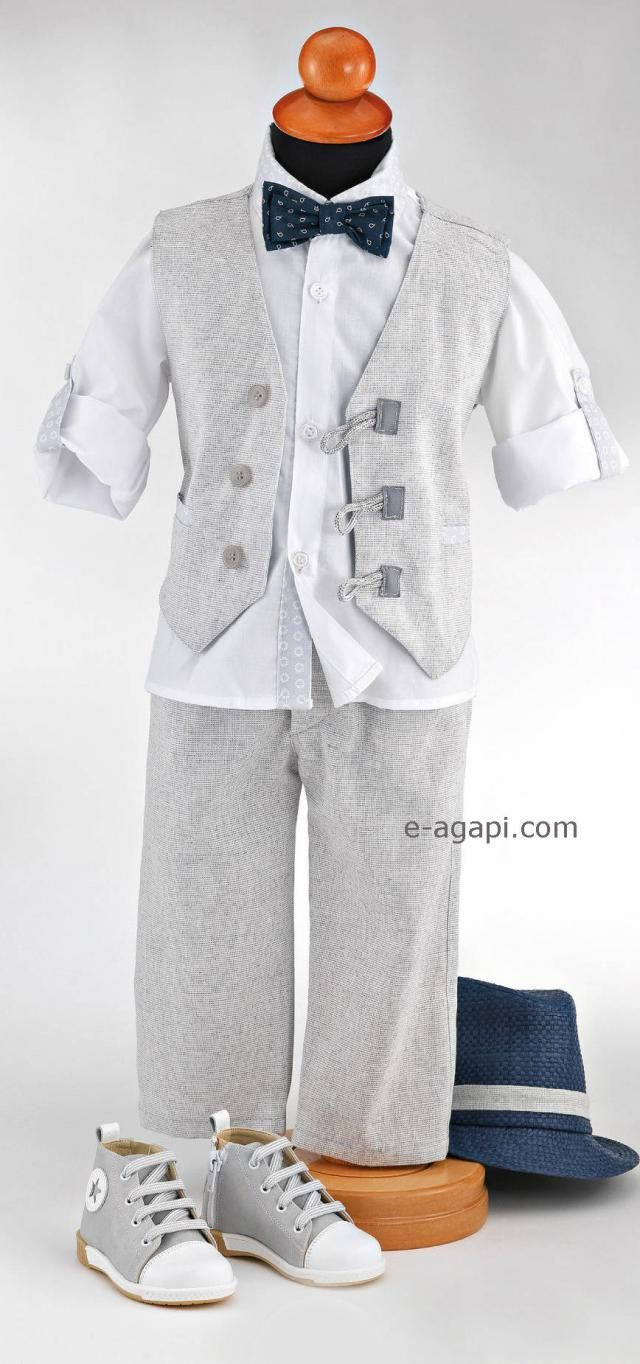 72e35d21dd9 Couture baby boy baptism outfit set Greek baptism suit white grey christening  suit Wedding elegant outfit