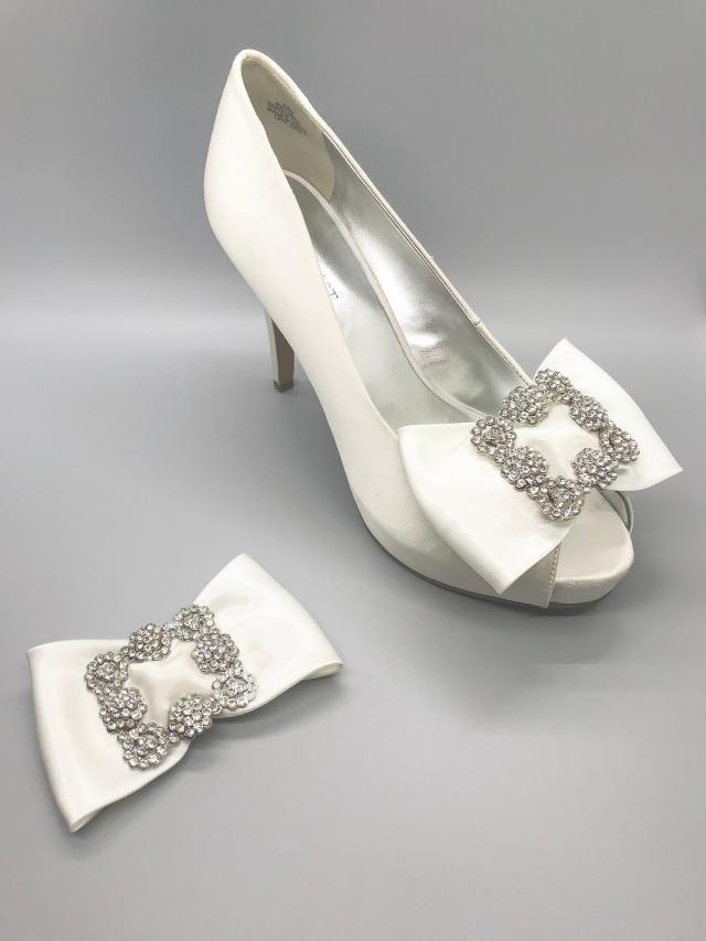 4131b7c724 Bow Shoe Clips , rhinestone Shoe Clips, shoe clip, bridal shoe clips,wedding