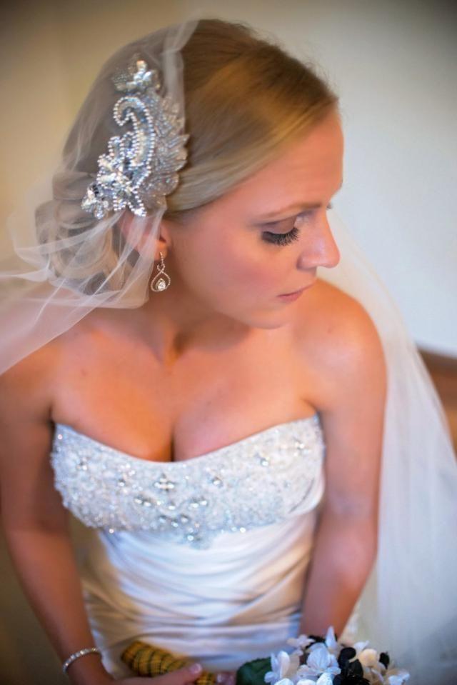 d21e2ff77e7f6 Juliet Cap Wedding Veil Cathedral Veil with Blusher