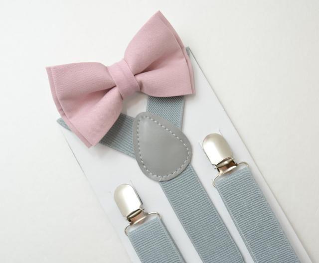 2936a7ea0ef7 Suspenders SET 8 months- Adult Kids Mens Baby Boys Light Gray Suspenders  & Dusty. #adult bow tie ...