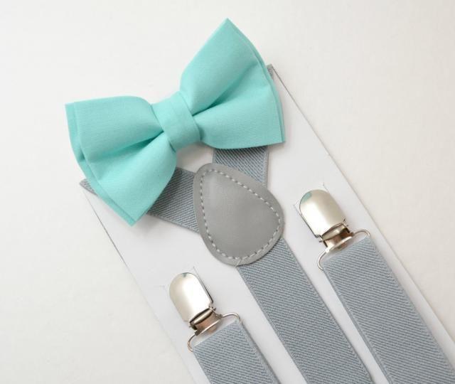 ADULT SET Kids Boys Mens Gray Suspenders /& Navy Blue Floral Bow tie Baby