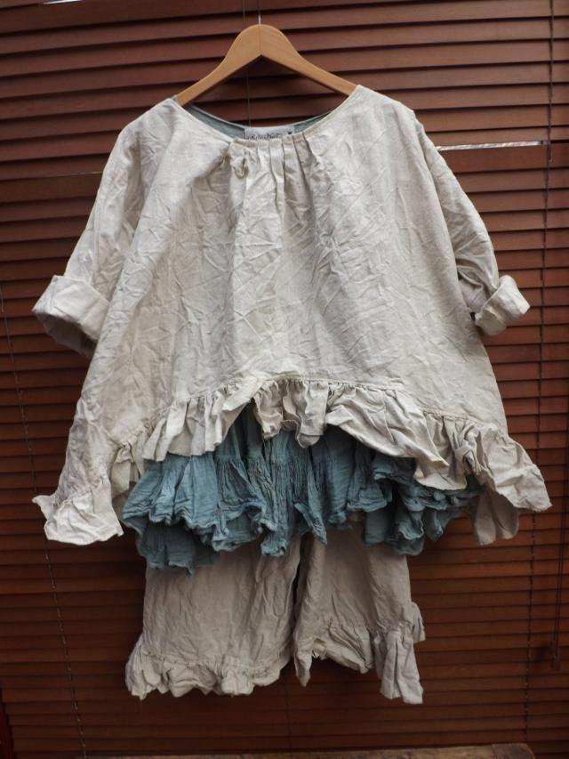 f7126497c9f All Sizes RITANOTIARA european linen natural Prairie Oversized shirt top  Oversize OSFA Prairie Shabby Chic Hippy