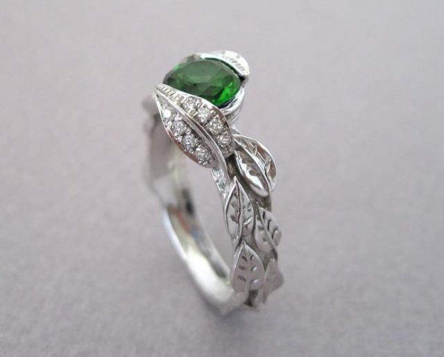eaad037e869 2019 Best Emerald Leaf Ring Images And Outfits