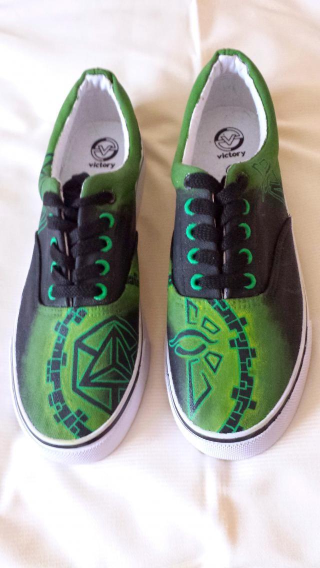66eb01afbc94 Ingress Enlightened Custom Vans Shoes Hand Painted Personalised