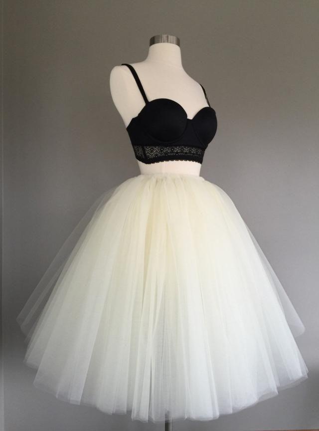 e651898c48 Ivory Tulle Skirt - Adult Bachelorette Tutu- ivory adult tutu, cream adult tulle  skirt