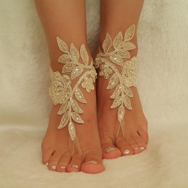 9ff1148007225 2019 Best Wedding Lace Sandals Images And Outfits