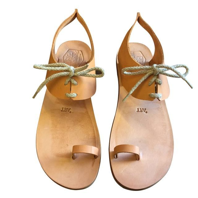 b6d3ba1bf Tan Shell Leather Sandals for Women  amp  Men - Handmade Leather Sandals